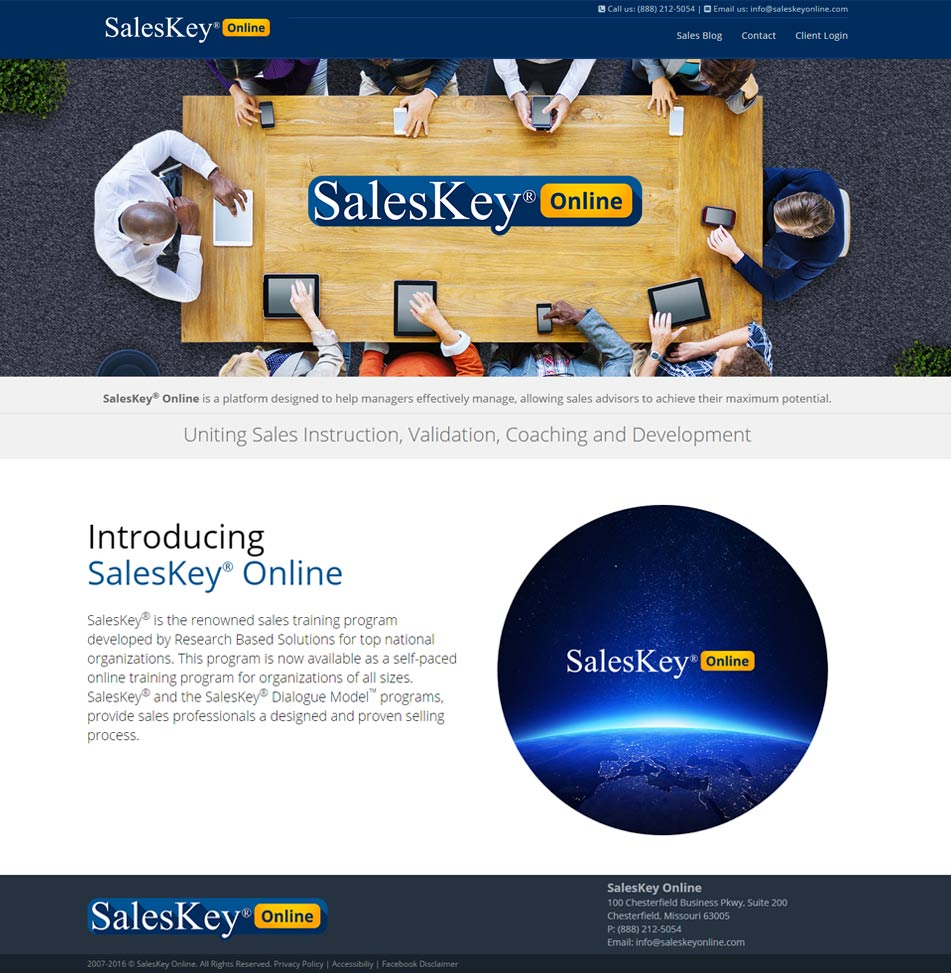SalesKey Before Optimization