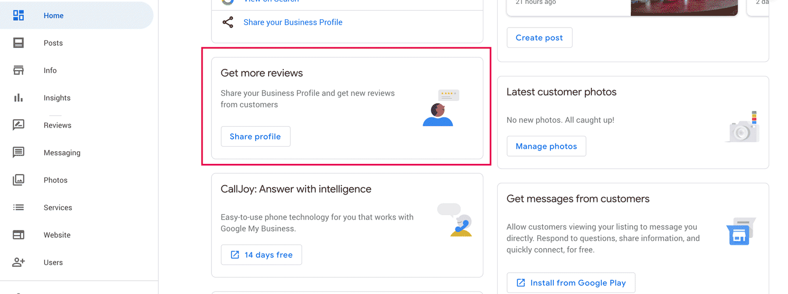 Get more review