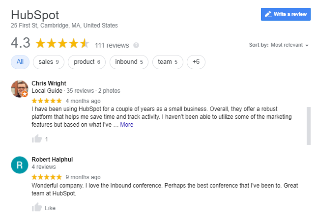 Hubspot-reviews