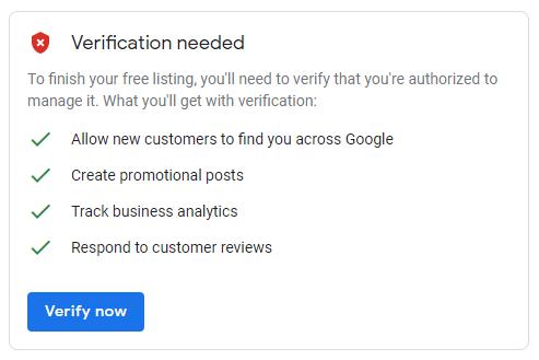 verify your address