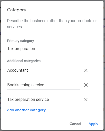 which category best describes your business
