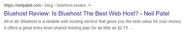 SERP Bluehost Review